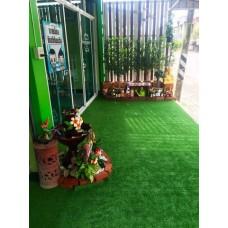 หญ้าเทียมสีเขียวเข้ม ขนสั้น By Goodwork